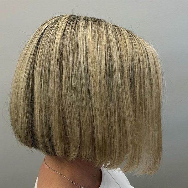 Stumpfe Bob Frisur Bilder auf kurzen Haaren