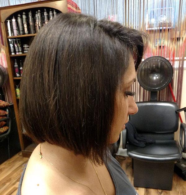 Stumpfe Bob-Haarschnitt-Ideen auf kurzem Haar