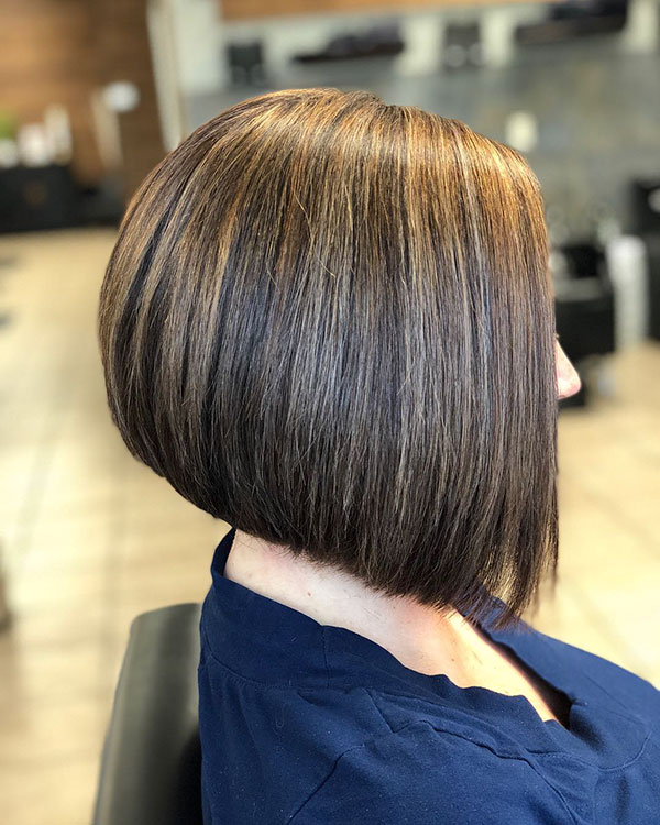 Bilder einer Linie Bob Haarschnitte