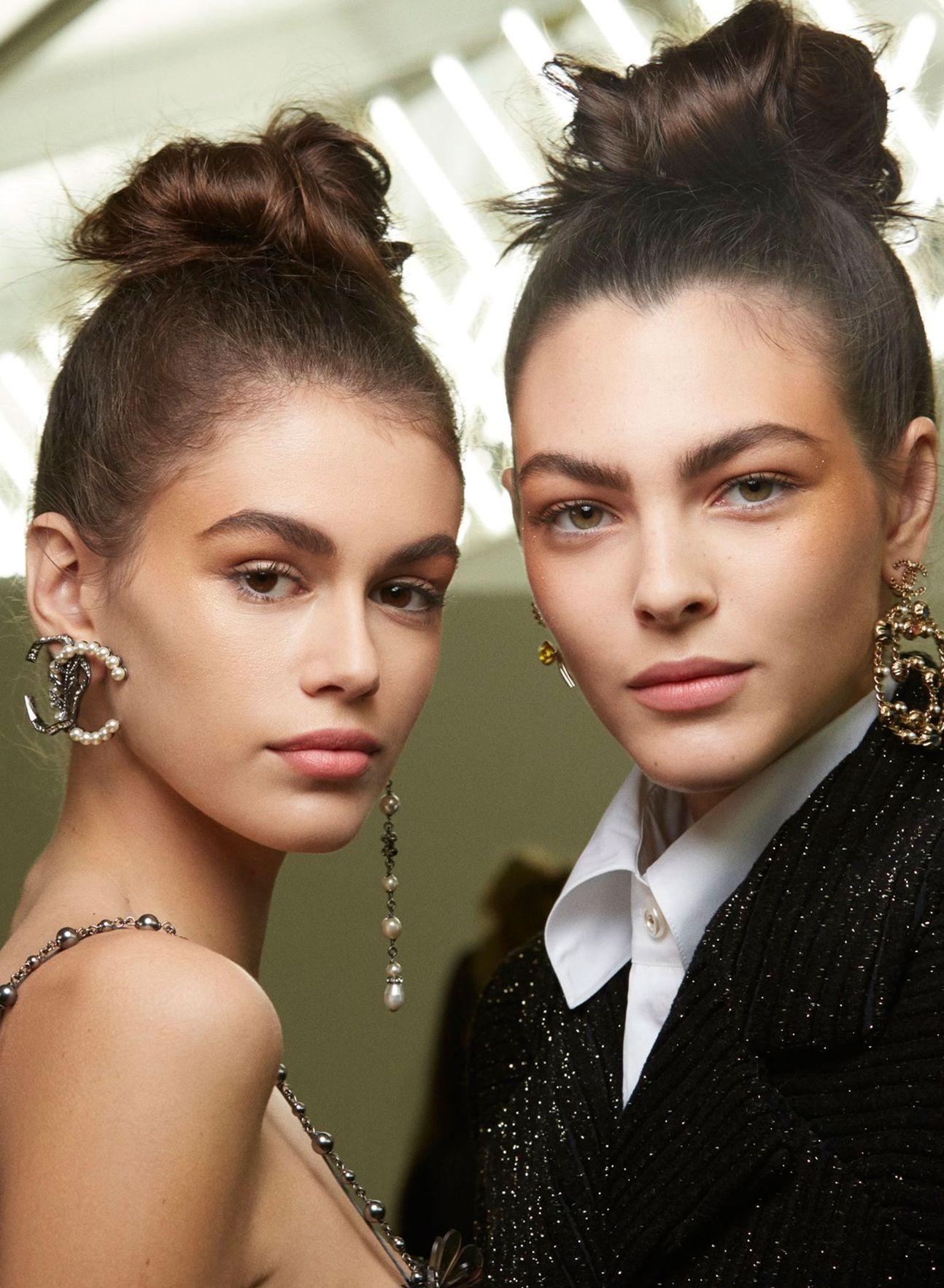 Chanel hohe Hochsteckfrisuren Frisuren 2019 Winter