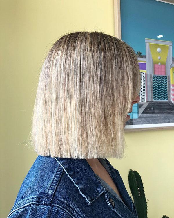 Bilder von blonden Bob-Frisuren