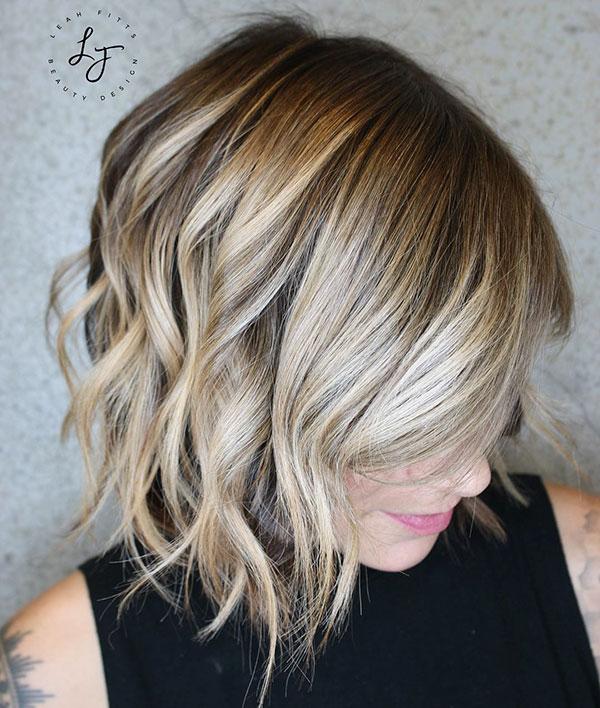 Bob Frisuren für blondes Haar