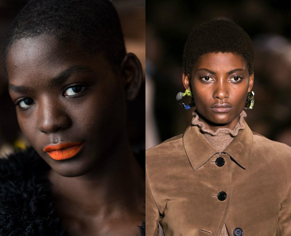 schwarze Frauen kurze Frisuren 2018 Frühling