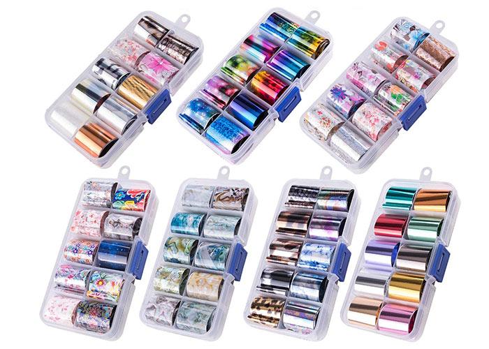 Beste metallische Nagelfolien: Duufin 70 Colors Nagelfolien-Aufkleber-Kit