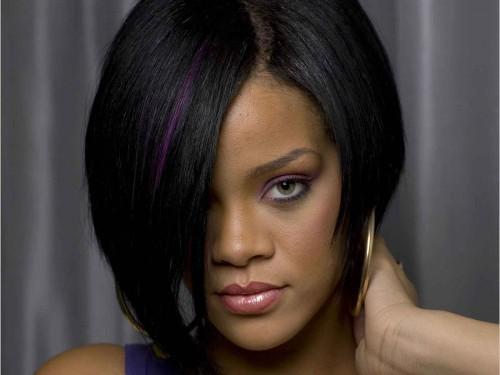 Frisuren verschiedene Arten für Mädchen Rihanna Bob