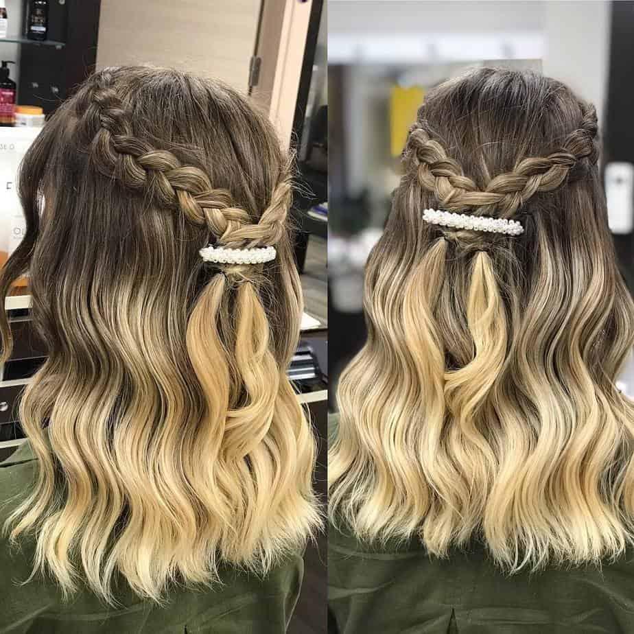 Leichte Locken kombiniert mit Ombre-Färbetechnik Haarschnitt 2020