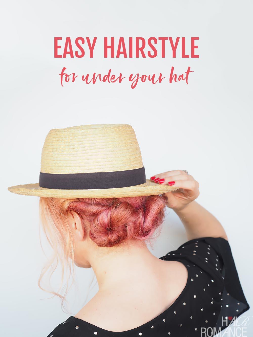 Easy Hat Frisur Tutorial – Hair Romance