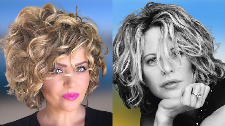 Kurze lockige Frisuren für Frauen