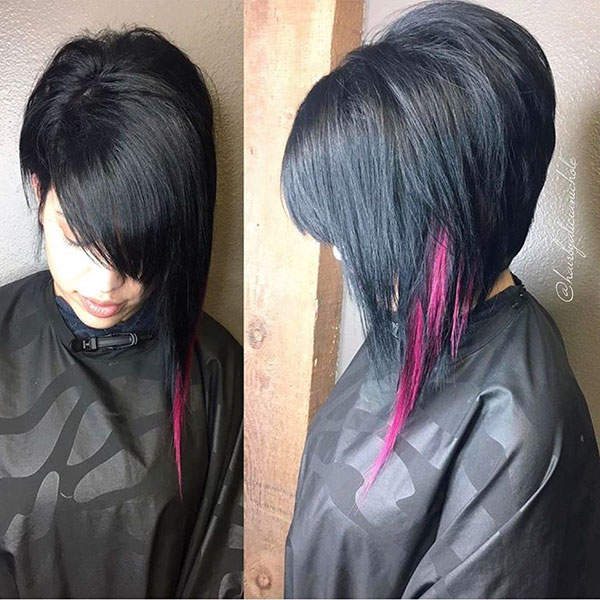 Coole asymmetrische Bob-Haarschnitte