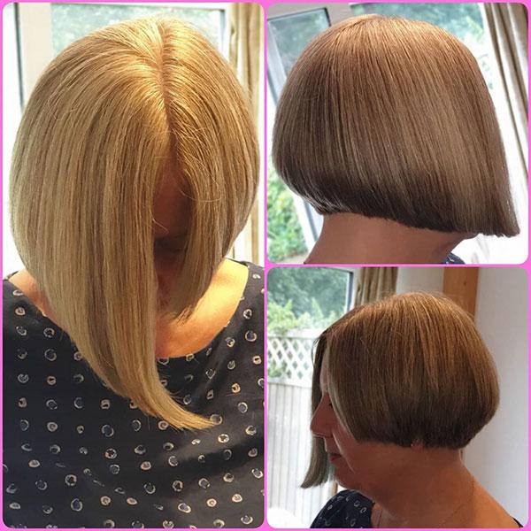 Bilder von asymmetrischen Bob-Haarschnitten