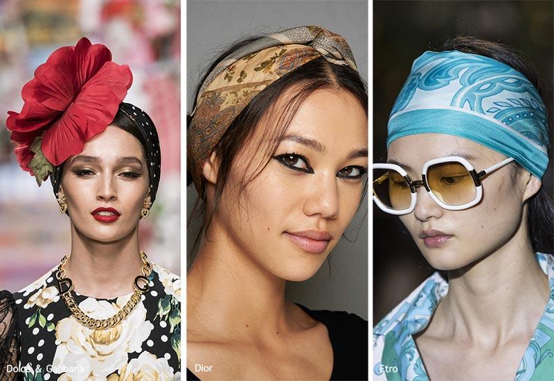 Frühjahr / Sommer 2021 Haarschmuck-Trends: Haarschals