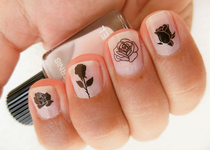 Nail Stickers & Nail Art Tattoos: Rose Nail Decals from encredelicate