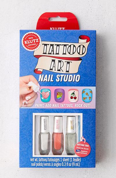 Nail Stickers & Nail Art Tattoos: Tattoo Art Nails Kit