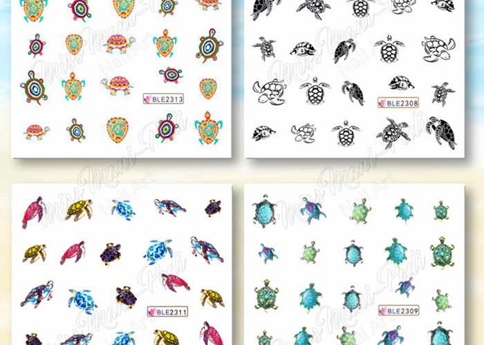 Nail Stickers & Nail Art Tattoos: Turtle Nail Decals from MissManiPediNailArt