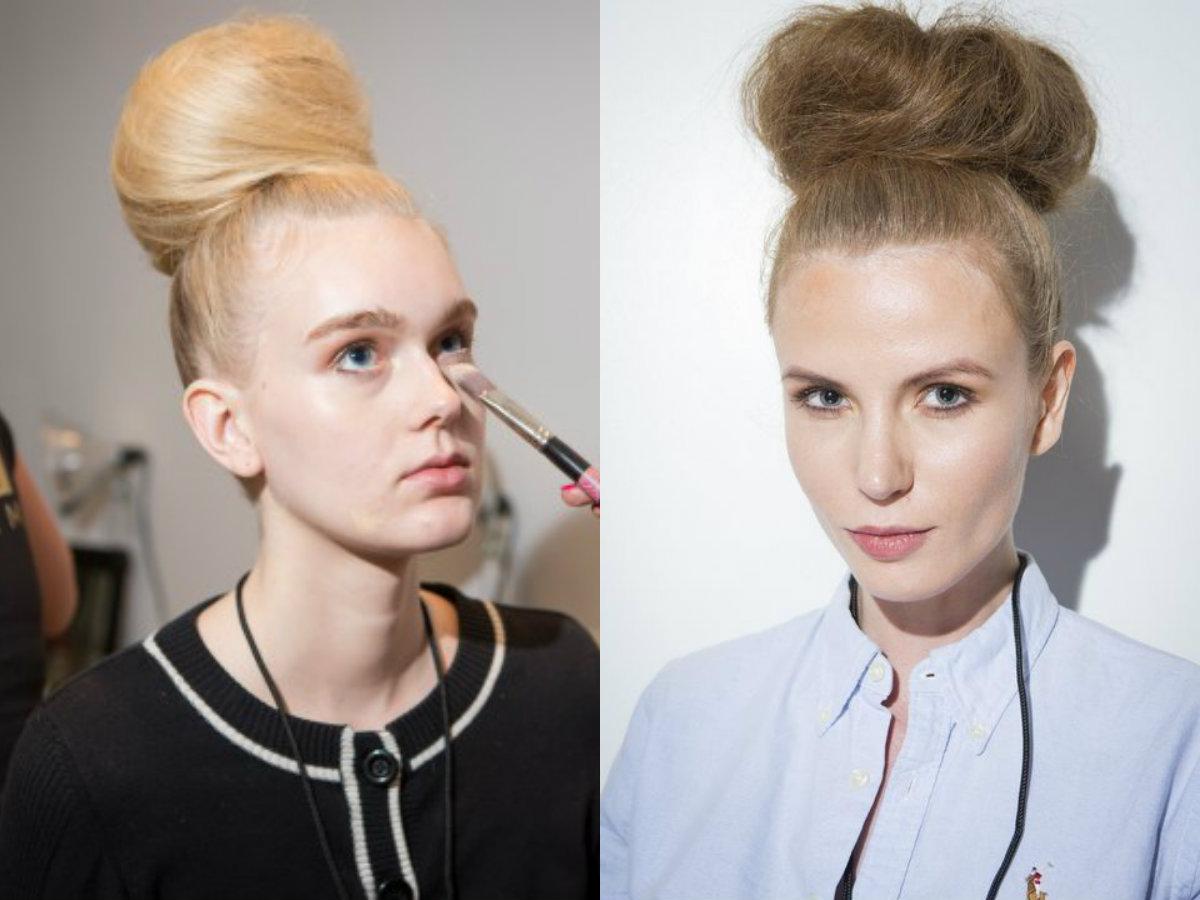 Michael Costello High Bun Hair Trends 2018 Frühling