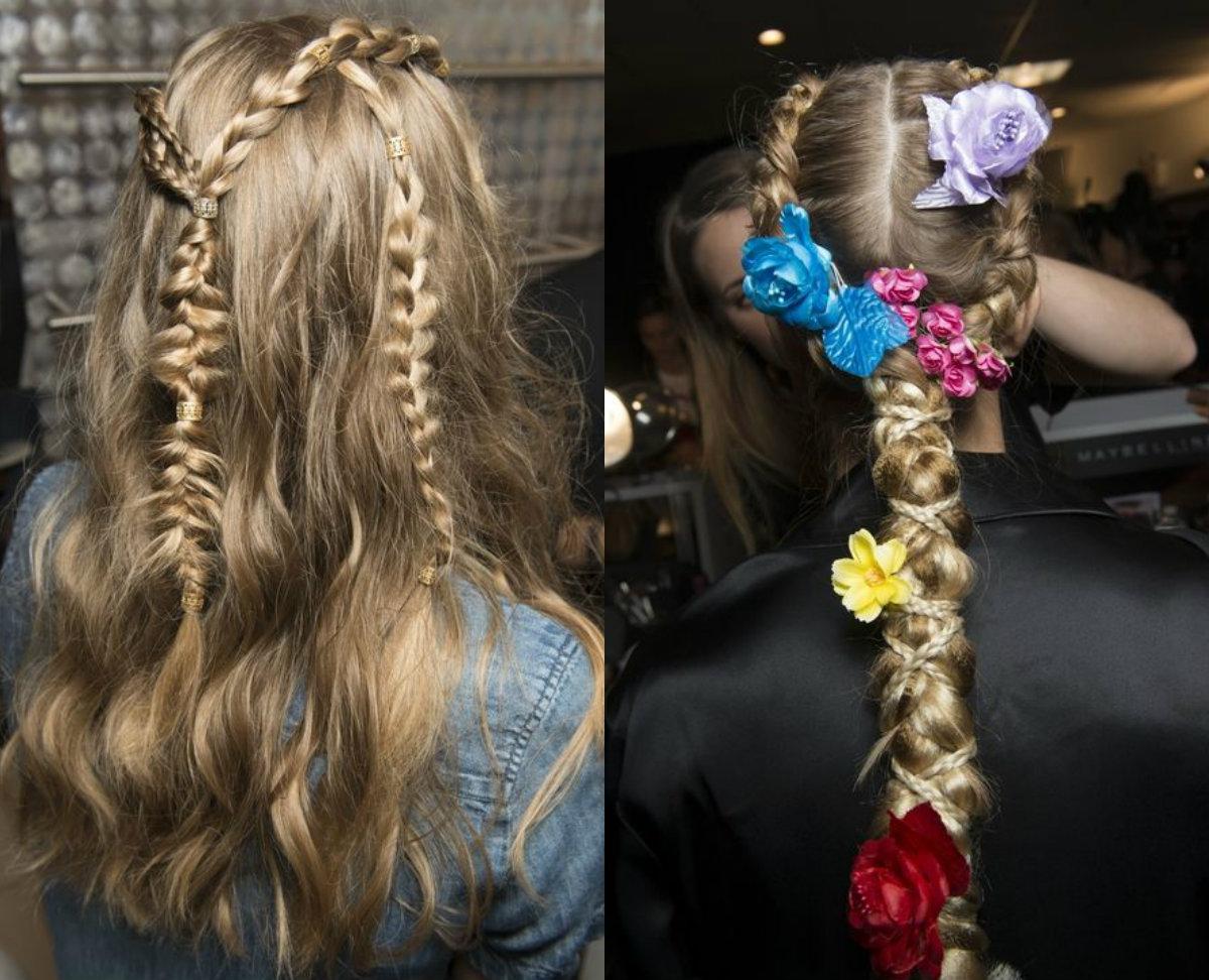 Zöpfe Haartrends 2018 Frühling Sommer
