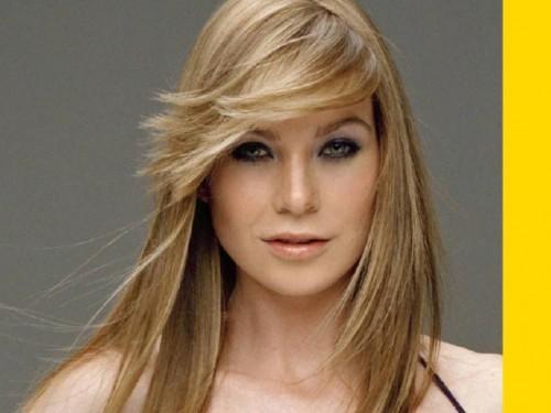 Lange geschichtete Haarschnitte