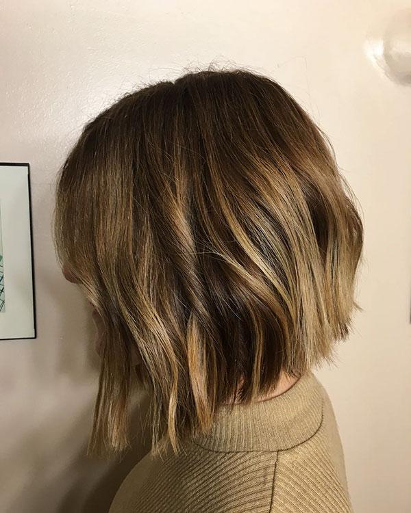 Bilder von abgestuften Bob-Frisuren