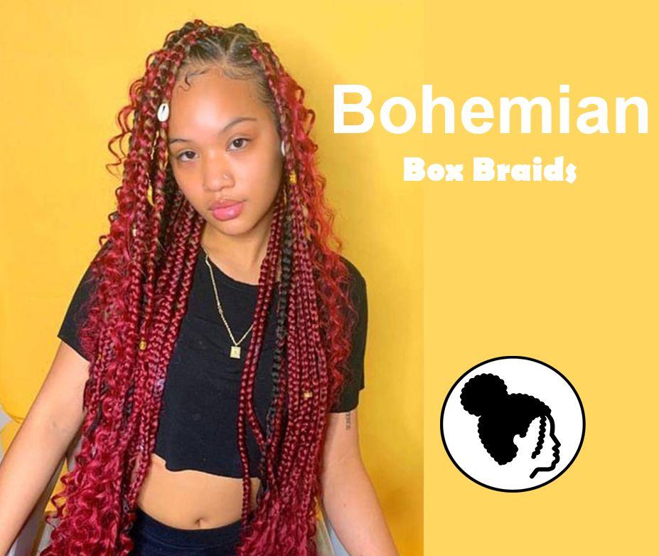 20 Glamours Bohemian Box Braids für diesen Sommer