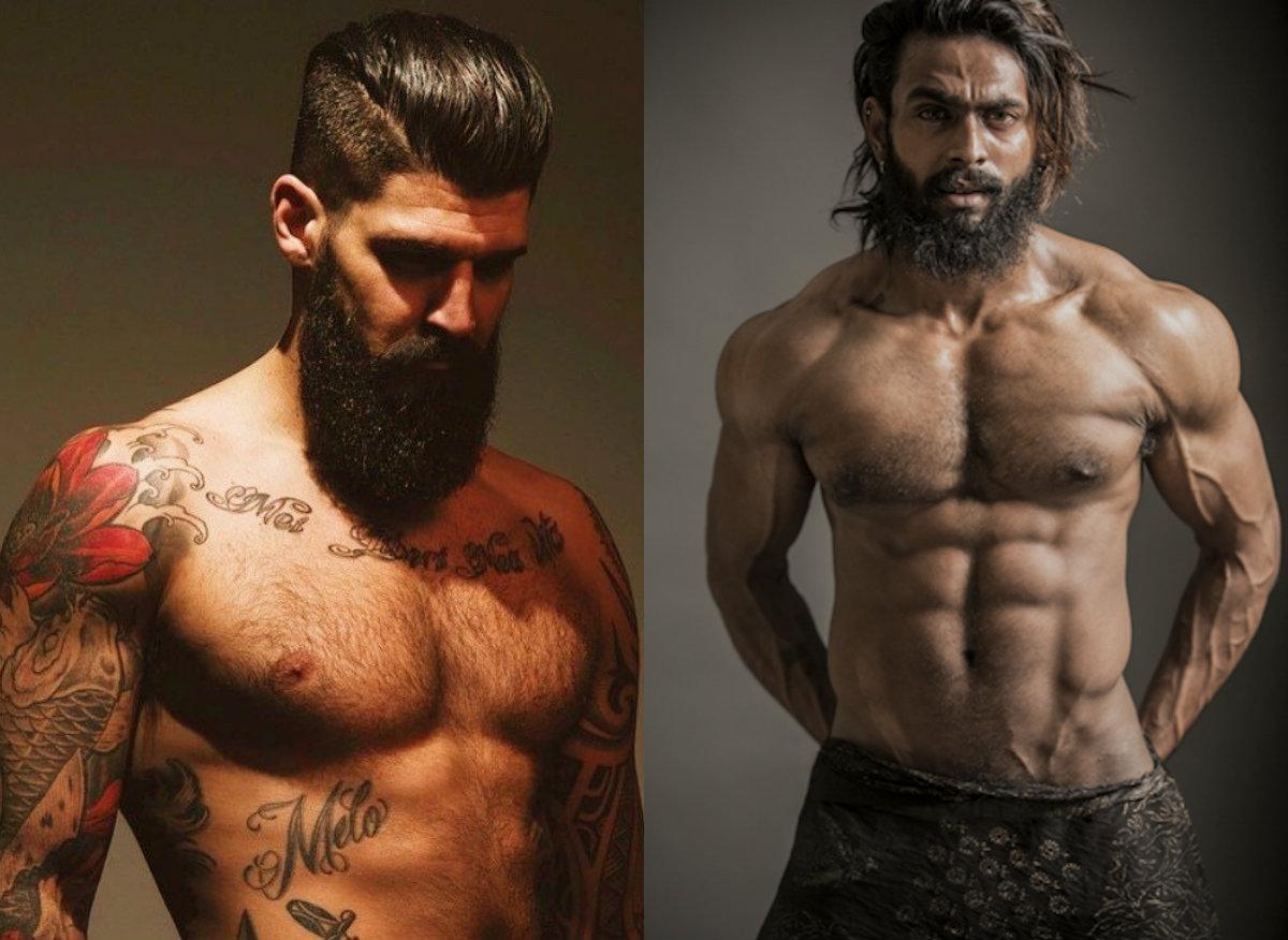sexy Männerfrisuren mit Bärten 2018