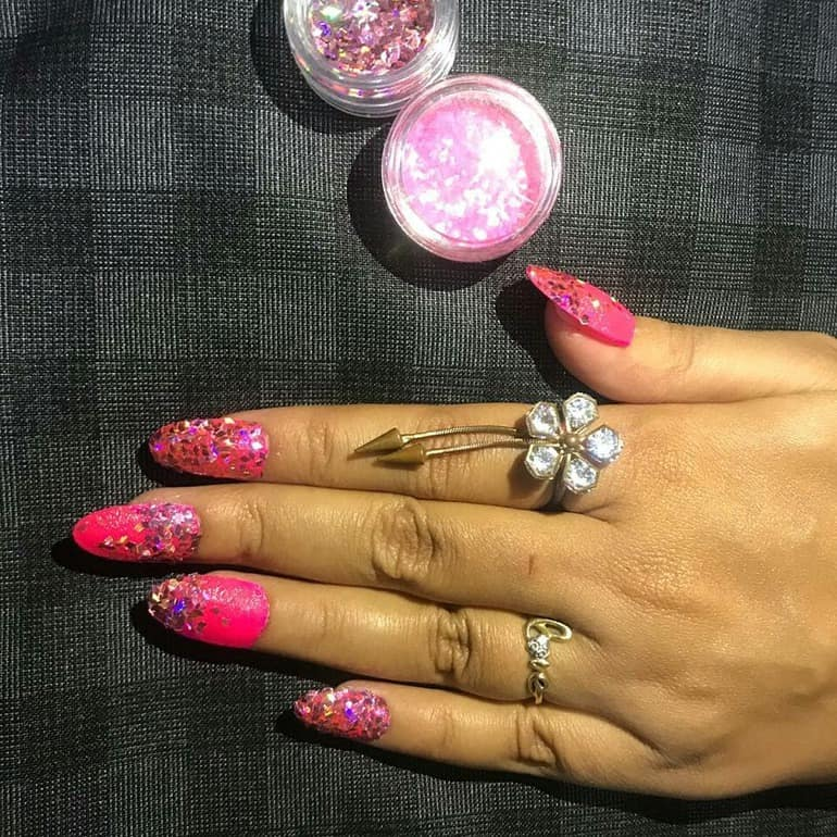 Beads and insertions in nail trends winter 2020
