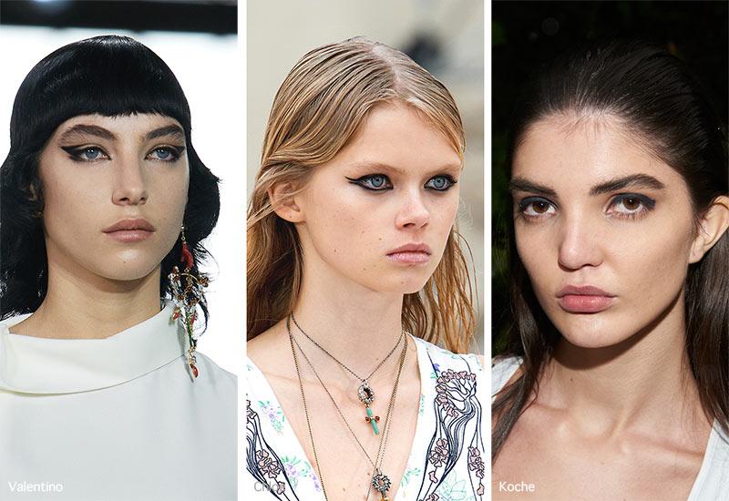 Make-up-Trends Frühjahr / Sommer 2021: Dicker schwarzer Eyeliner