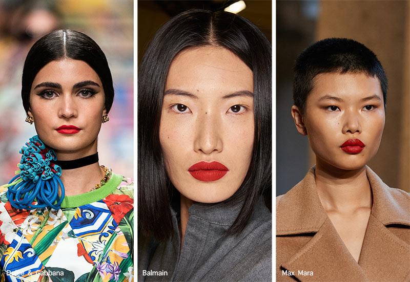 Make-up-Trends Frühjahr / Sommer 2021: Rote Lippen