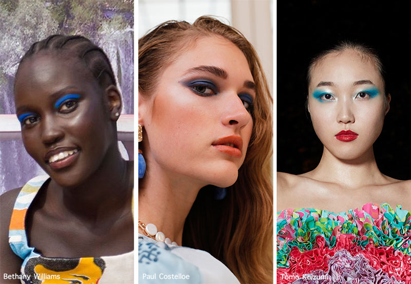 Make-up-Trends Frühjahr / Sommer 2021: Blauer Lidschatten