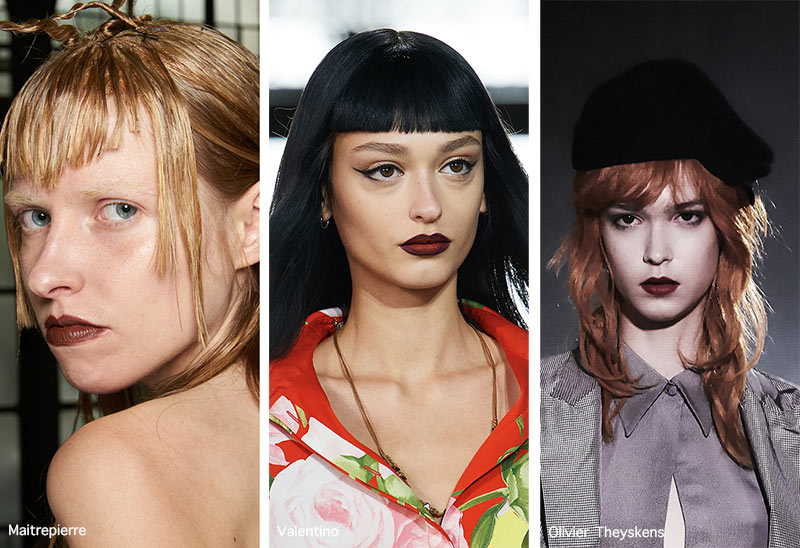 Make-up-Trends Frühling / Sommer 2021: Vampy Dark Lips