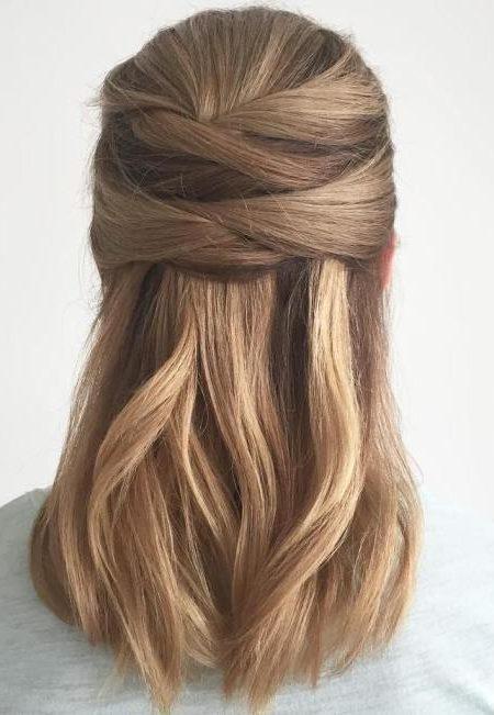Verstautes glattes Haar