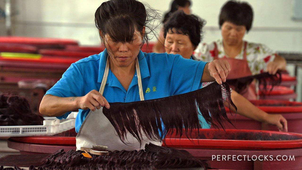 asiatisches menschliches Haar