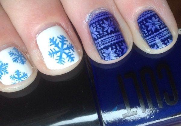 blaue Winternägel