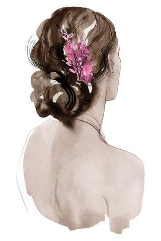 Wispy Blumen und Chignons