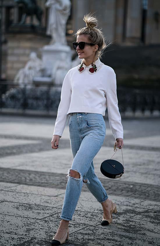 Wie man Vintage Denim Jeans stylt