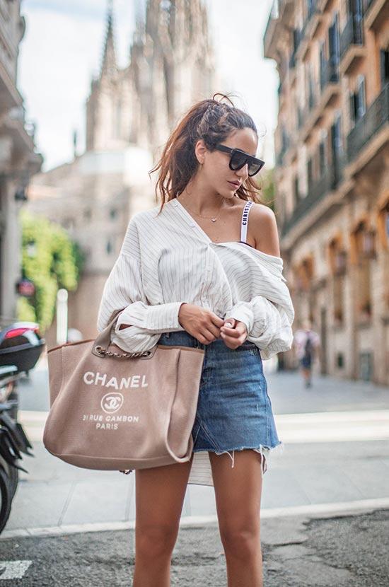Wie man Vintage Jeansröcke stylt
