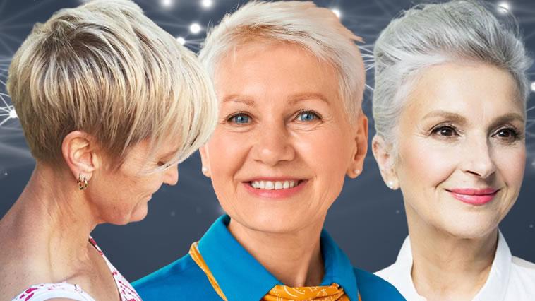 Beachtung! Kurze Haarschnitte für Frauen über 65 in den Jahren