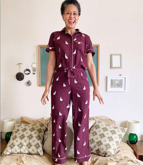 Pyjama eingestellt