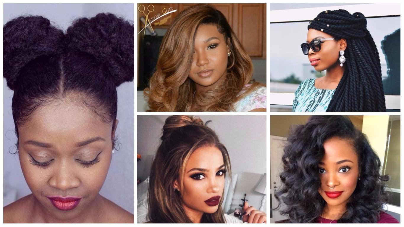 lange Frisuren für schwarze Frauen 2019