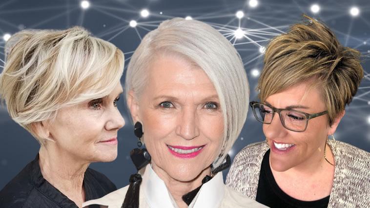 Kurzhaarschnitte und Frisuren für Frauen über 60 in den Jahren