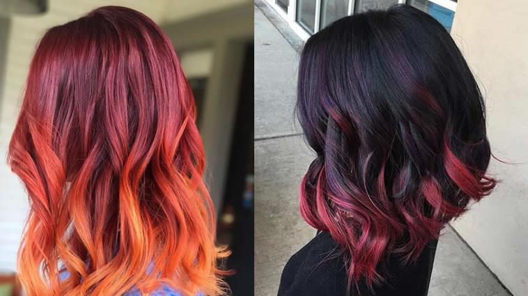 Rote Ombre Haarfarben 2020