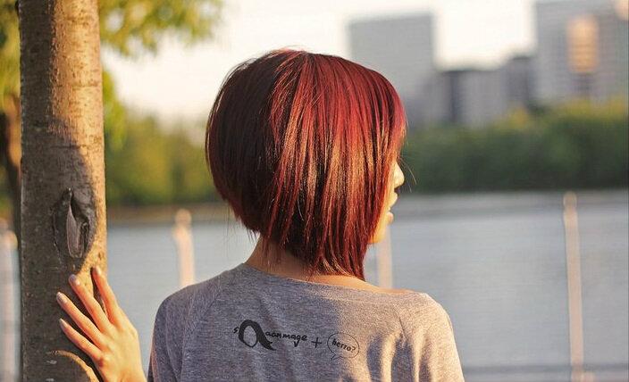 rot geschichtete Bob-Haarschnitte 2018