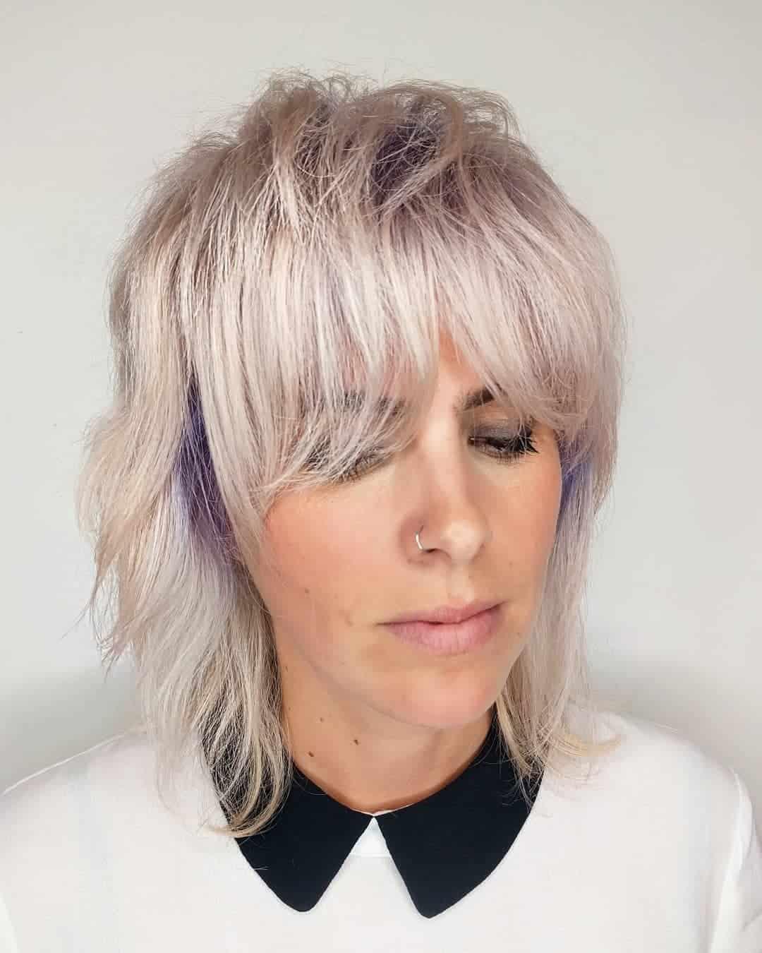 mittellagige Haarschnitte 2021 shag