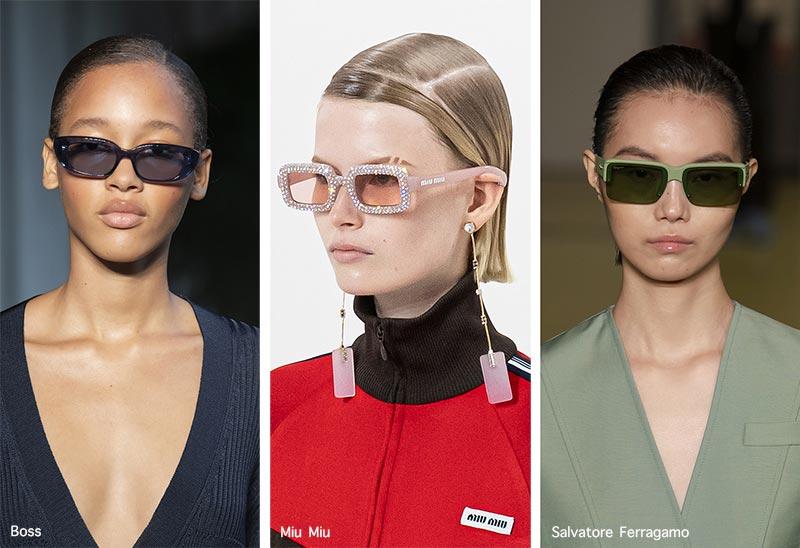 Sonnenbrillentrends Frühjahr / Sommer 2021: Längliche Sonnenbrillen