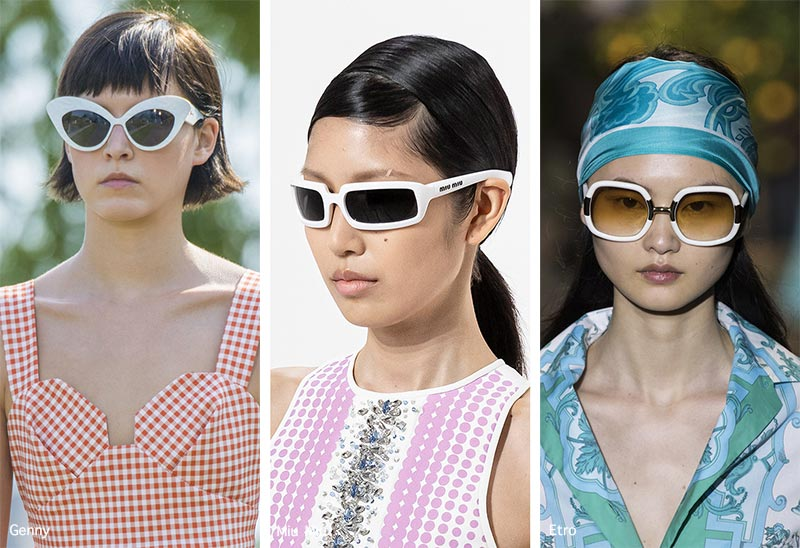 Sonnenbrillentrends Frühjahr / Sommer 2021: Sonnenbrillen mit weißen Rahmen