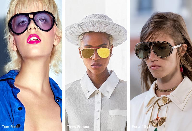 Sonnenbrillentrends Frühjahr / Sommer 2021: Twisted Aviator Sonnenbrillen