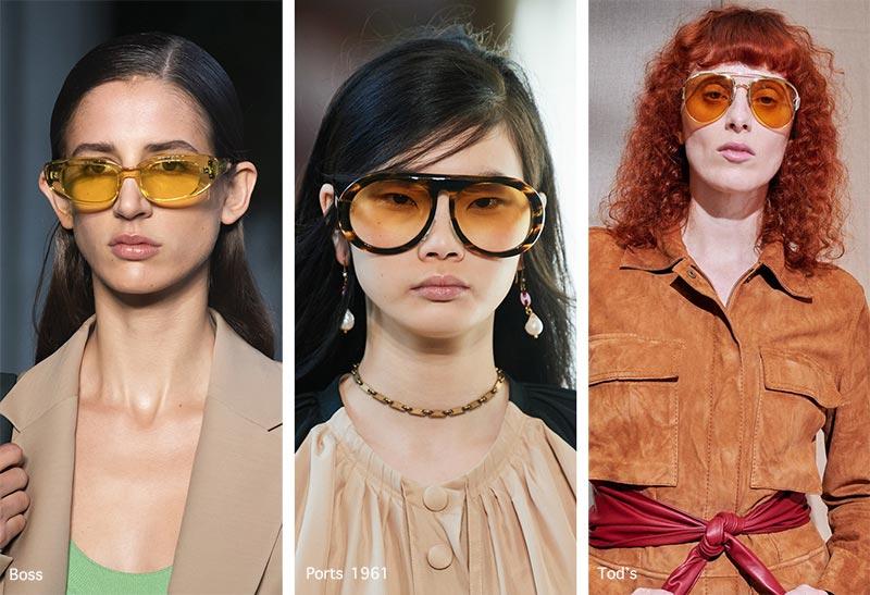 Sonnenbrillentrends Frühjahr / Sommer 2021: Sonnenbrillen mit gelben Gläsern