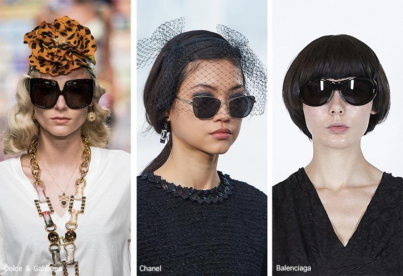 Sonnenbrillentrends Frühjahr / Sommer 2021: Sonnenbrillen mit schwarzen Gläsern