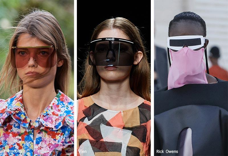 Sonnenbrillentrends Frühjahr / Sommer 2021: Visier-Sonnenbrillen