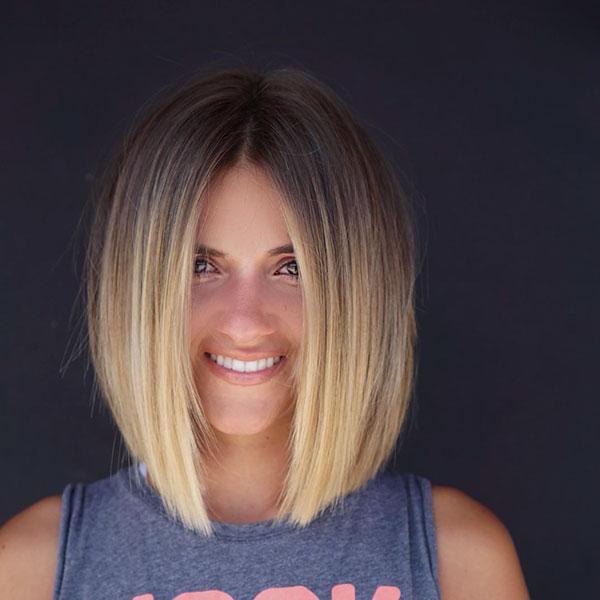 Ombre Blonde Haarfarbe für kurzes Haar