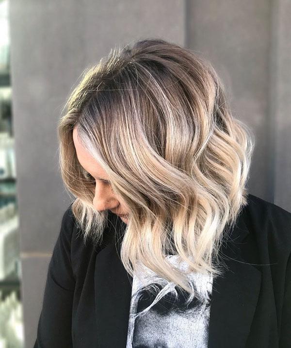 Blonde Ombre Frisuren für kurzes Haar